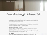 Transform from 1 room to 2 with Temporary Walls NYC