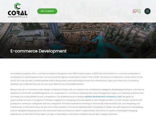 #1 E-Commerce Website Design Company in Dubai