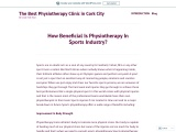 How Beneficial Is Physiotherapy In Sports Industry?
