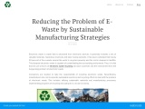 Reducing the Problem of E-Waste by Sustainable Manufacturing Strategies