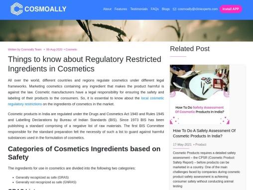 Cosmetic regulatory compliance India