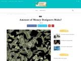 Amount of Money designers Make?