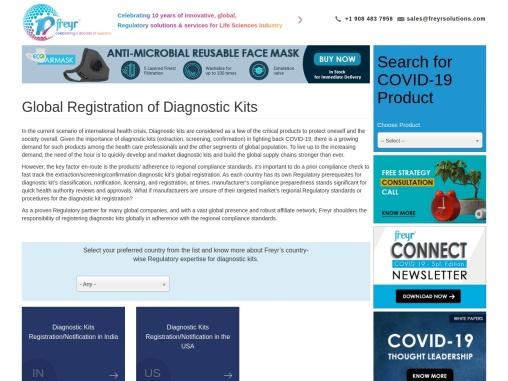 Diagnostic kits registration/Notification, Covid-19