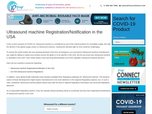 Ultrasound Machine Registration/Notification in USA, US FDA, Covid-19