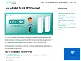 Stepwise instructions for tplink cpe setup