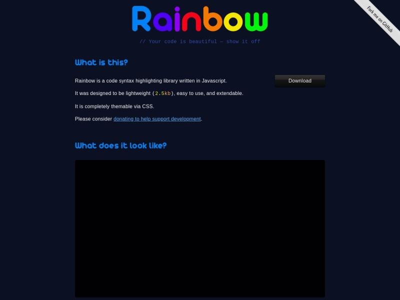 Rainbow | シンタックスハイライターJavaScript Plugin