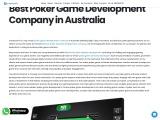 Best Poker Game Development Company in Australia | Creatiosoft