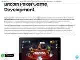 Bitcoin Poker Game Development Company – Creatiosoft