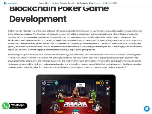Blockchain Poker Game Development Company – Creatiosoft