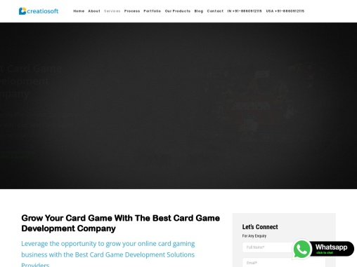 Card Game Development Company – Creatiosoft Solutions Private Limited