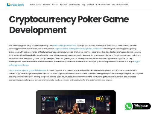 Cryptocurrency Poker Game Development | Creatiosoft