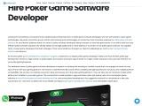 Hire Poker Game Software Developer | Creatiosoft