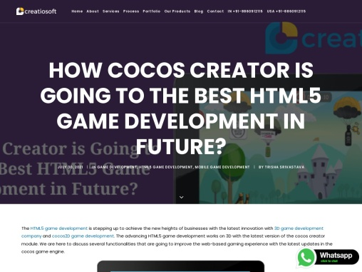 How Cocos Creator is Going to The Best HTML5 Game Development in Future?