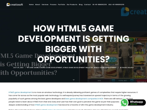 How HTML5 Game Development is Getting Bigger with Opportunities?
