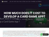 How Much Does it Cost to Develop a Card Game App? | Creatiosoft