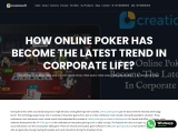 How Online Poker Game Has Become The Latest Trend In Corporate Life?