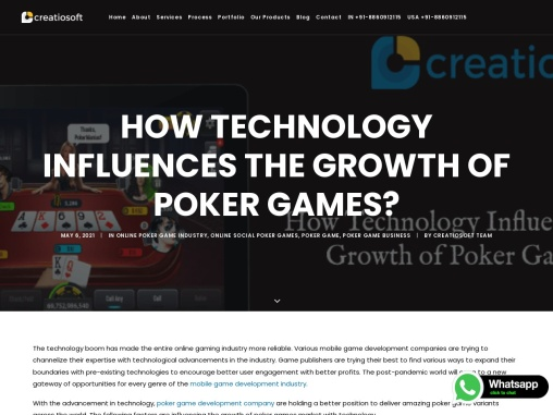 How Technology Influences the Growth of Poker Games?