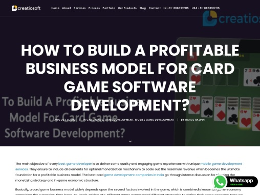 How To Build A Profitable Business Model For Card Game Software Development?