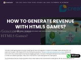 How to generate revenue with HTML5 games? – Creatiosoft Solutions