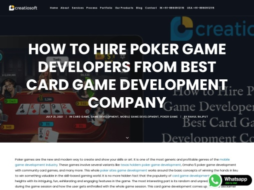 How to Hire Poker Game Developers from Best Card Game Development Company