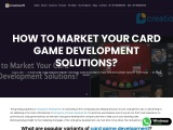 How to Market Your Card Game Development Solutions? – Creatiosoft
