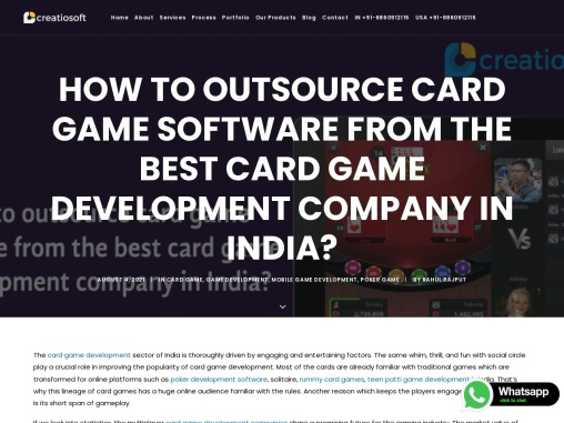 How to outsource card game software from the best card game development company in India?