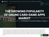The Growing Popularity of Online Card Game Apps Market | Creatiosoft