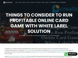 Things to Consider To Run Profitable Online Card Game With White Label Solution