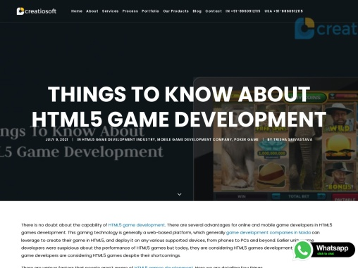 Things To Know About HTML5 Game Development | Creatiosoft