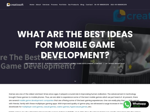 What are the best ideas for mobile game development?