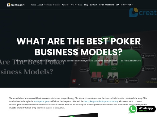 What Are The Best Poker Business Models? – Creatiosoft
