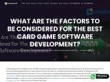 What Are Factors To Considered For Card Game Software Development?