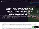 What Card Games are Profiting the Indian Gaming Market? | Creatiosoft