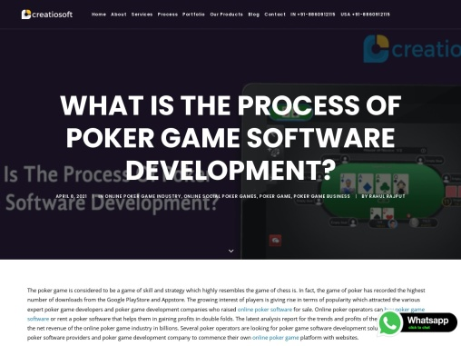 What Is The Process Of Poker Game Software Development?