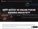 Why Invest In Online Poker Gaming Industry? – Creatiosoft