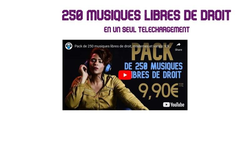 pack de 250 musiques libres de droit