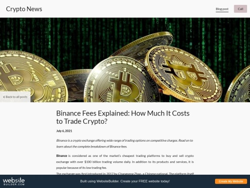 Binance Fees Explained: How Much It Costs to Trade Crypto?