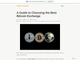 A Guide to Choosing the Best Bitcoin Exchange