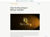 How To Pay Using A Bitcoin Tumbler