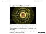 How to Stake Crypto on Binance?