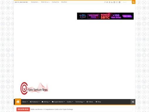 Crypto Venture News – Latest News On Crypto Markets