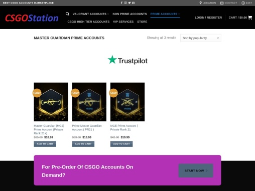 Buy MG Prime Accounts from CSGOStation