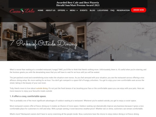 7 Perks of Outside Dining – Cucina Dolce