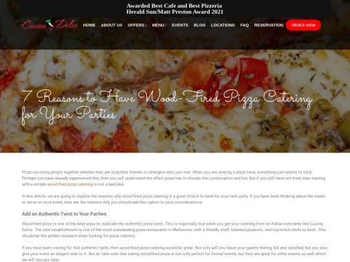 7 Reasons to Have Wood-Fired Pizza Catering for Your Parties