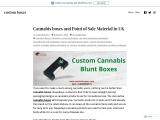 Cannabis boxes High Resolution Stock Photography in UK