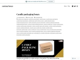 Buy candle packaging boxes with free Shipping in UK