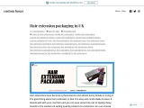 Hair packaging boxes and quality material in London, UK