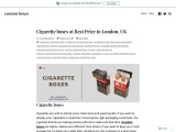 Buy cigarette boxes with Free Shipping in London, UK
