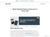 Buy blank cigarette boxes wholesale With free Shipping in Texas, USA