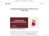 Buy cigarette boxes with Free Shipping in Texas, USA
